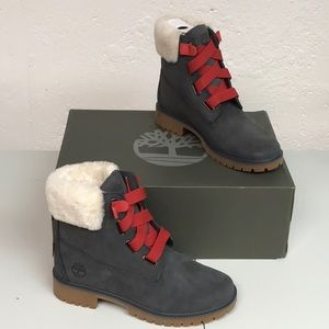 Timberland Jayne convenience boot 7.5 fur trim